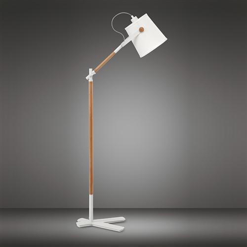 Nordica Matt White Floor Lamp M4920