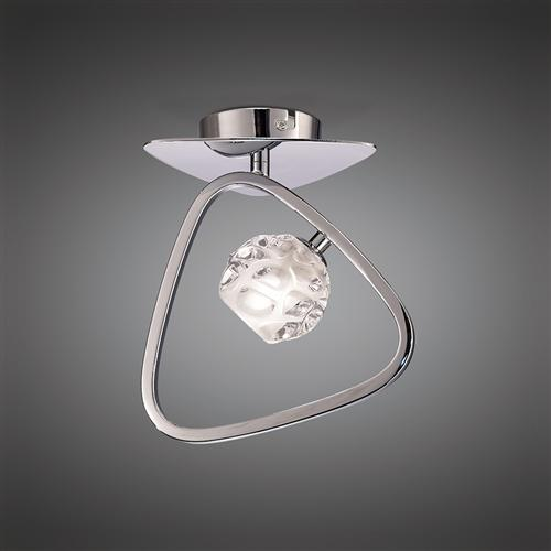 Lux Chrome Small Semi Flush Ceiling Light M5016