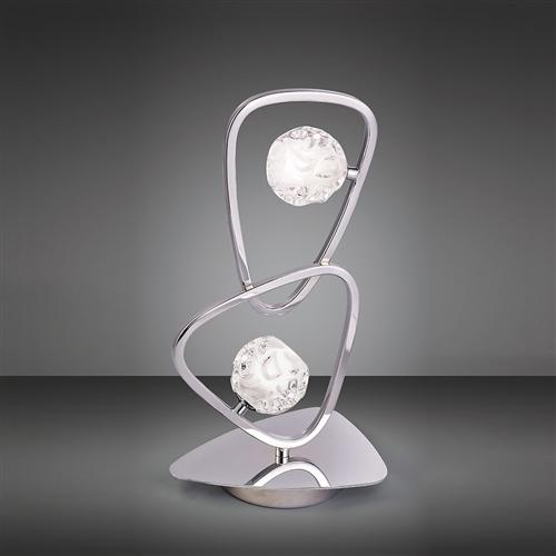 Lux Chrome Contemporary Table Lamp M5018