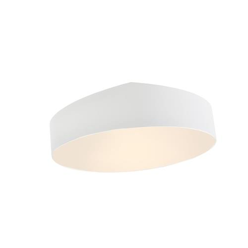 Mini Matt White Round Slanted Semi Flush Ceiling Fitting M6166