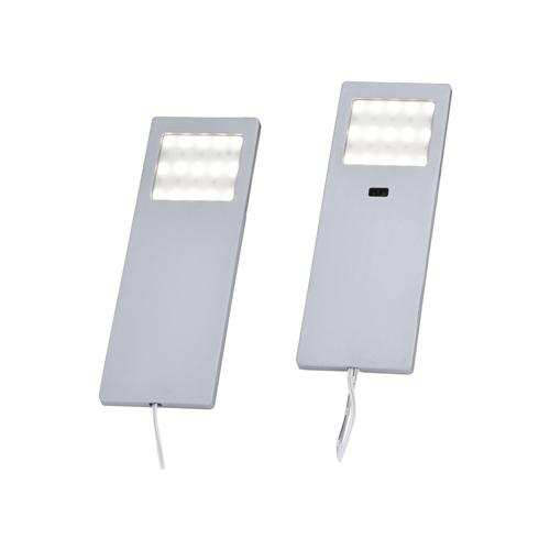 1121-95-2 Helena LED Pack Of Two Aluminium Under Cabinet Sensor Lights
