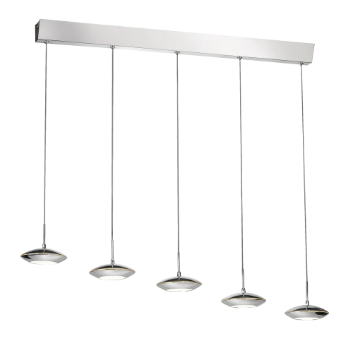 Tebutt Chrome Five Light LED Ceiling Fitting 2703-17