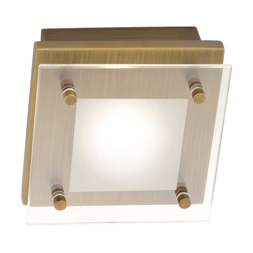 Led Ceiling Lights Brass : Chiron led old brass ceiling light the lighting superstore