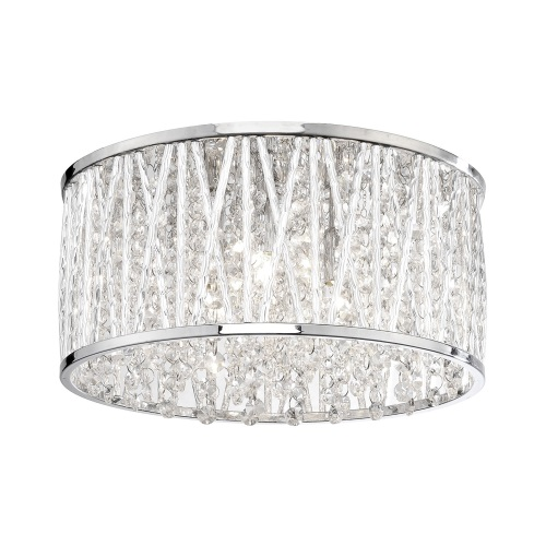 Lefes Chrome LED Crystal Ceiling Light 6101-17