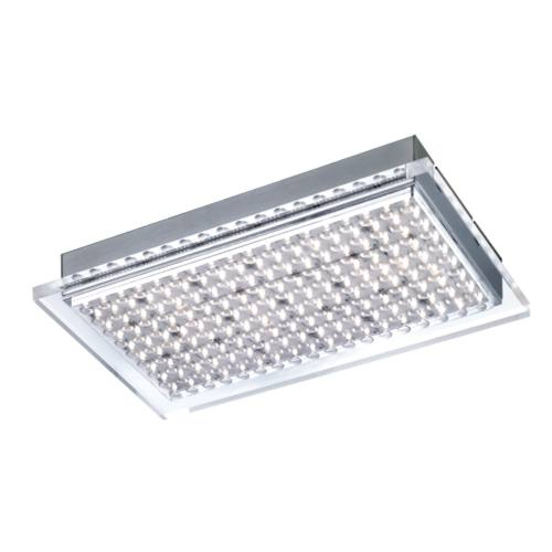 Pasadena LED Rectangular Chrome Flush Fitting PN0661