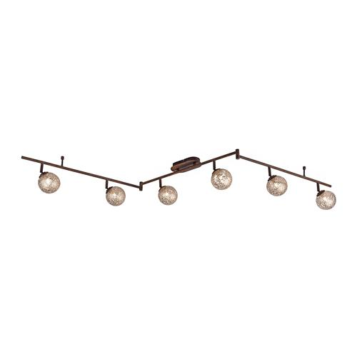 6201-48 Greta Rust Coloured Spot 6 Light