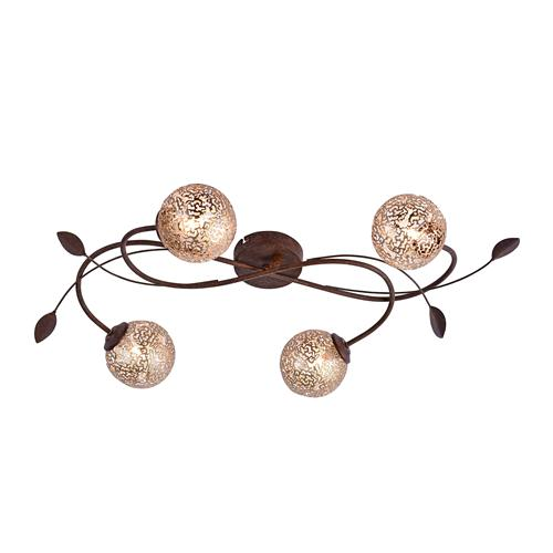 Greta Rust Coloured Multi-Arm 4 Light 6395-48