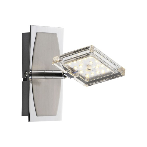 Daan-RGB LED Chrome Wall Light 8641-17