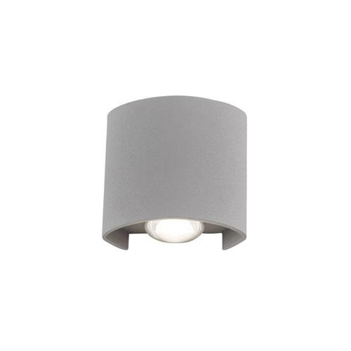 Carlo Oval LED Silver Finished 2 Light Wall Fitting 9486-21