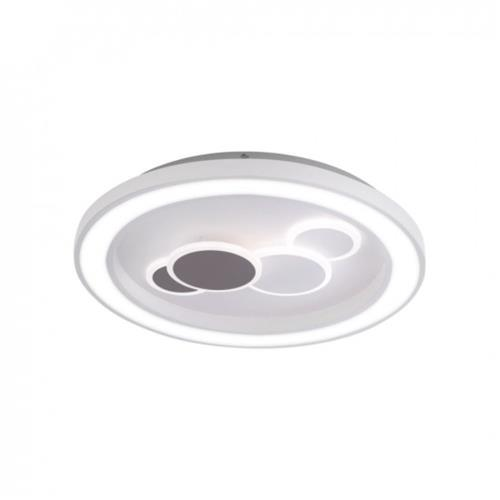 Ponch LED Flush Dimmable Grey Ceiling fitting PN0665