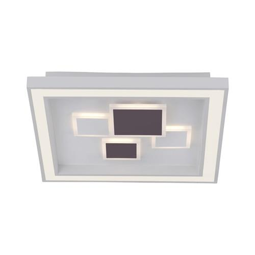 Ponce LED Square Flush Dimmable White Ceiling Fitting PN0664