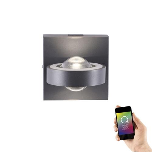 Q-Mia Black Dimmable LED RGB Wall Light 9185-13