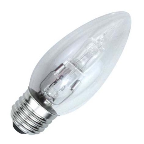 Candle E27 Halogen 25W=40W Clear