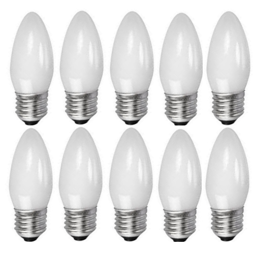 Candle E27 Halogen 25W=40W Opal 10 Pack