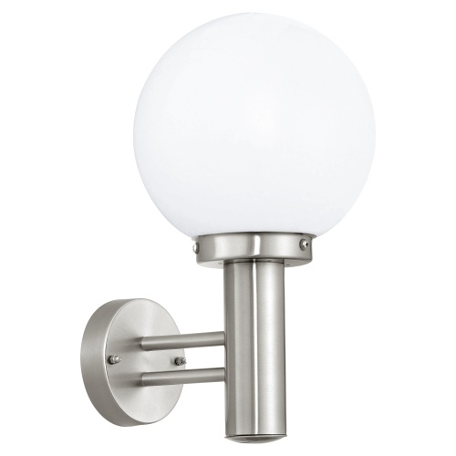 nisia globe outdoor wall light 30205 the lighting superstore