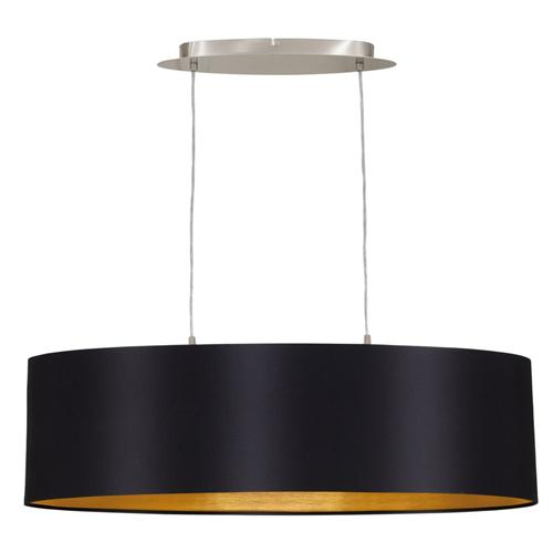 31611 Maserlo Medium Black Oval Ceiling Pendant
