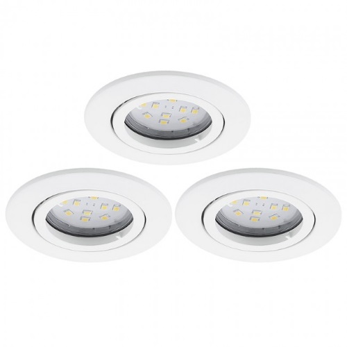 Tedo Recessed LED Downlights Pack Of Three 31683