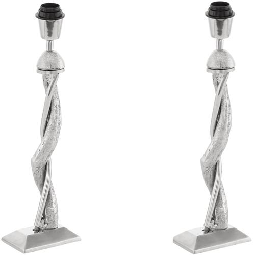 49187 Bedworth Pack of Two Twisted Lamp Base