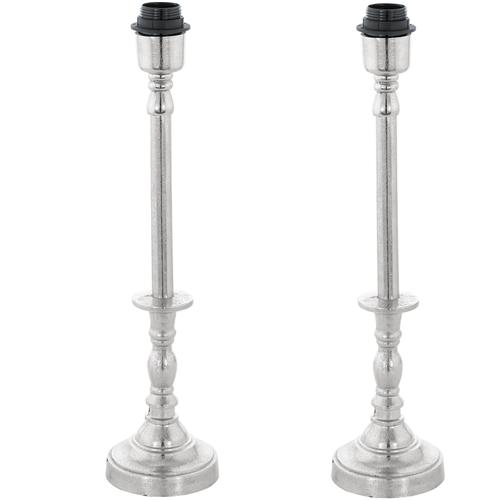 Bedworth Pack Of Two Tall Candle Stick Lamp Bases 49198