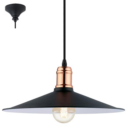 Bridport Single Industrial Styled Ceiling Pendant 49452
