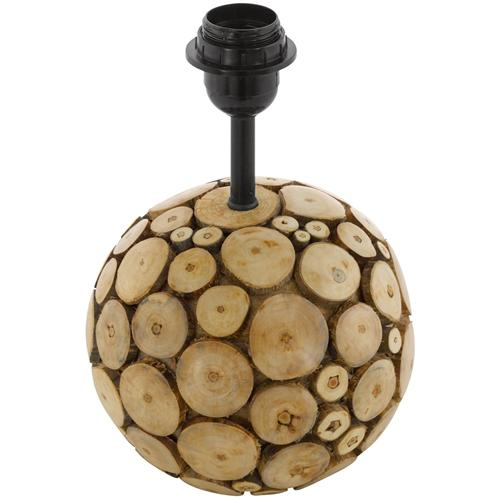 49834 Ribadeo Round Wooden Table Lamp