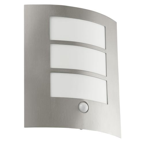 City Stainless Steel Outdoor Sensor Light with 3 Panel Front 88142