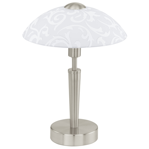 Solo Satin Nickel Table Lamp 91238