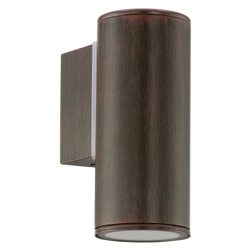 Riga LED Outdoor Antique Brown Wall Light 94104