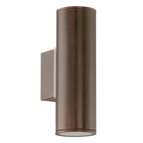 Riga LED Outdoor Antique Brown Wall Light 94105