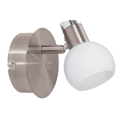 94253 Sesto 2 LED Satin Nickel Single Spotlight