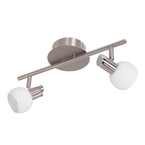 94254 Sesto 2 LED Satin Nickel Double Spotlight