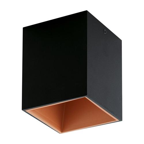 Palasso Box Black and Copper Finish LED Ceiling Spot 94496