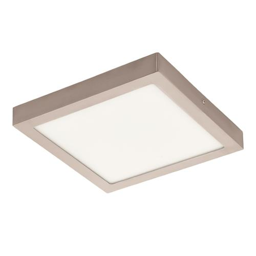 Fueva 1 Matt Nickel LED 225mm Flush Ceiling Light 94526