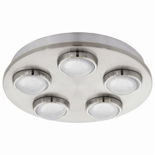 94546 Lombes LED Satin Nickel Ceiling 5 Light