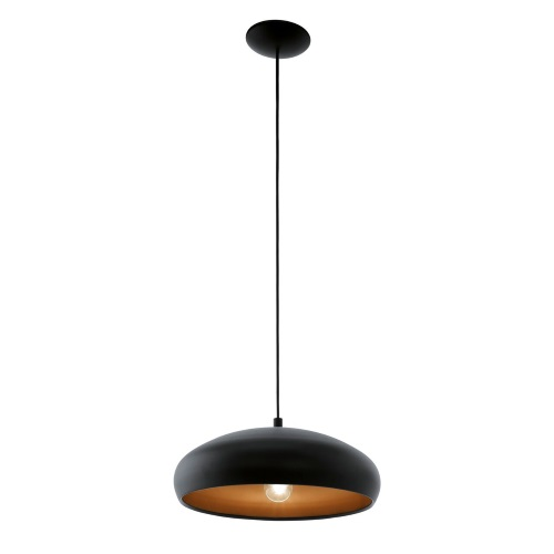 Mogano 1 Black Pendant Light 94605