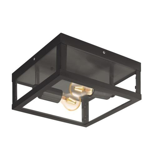 Alamonte 1 Outdoor Black Wall/Ceiling Light 94832