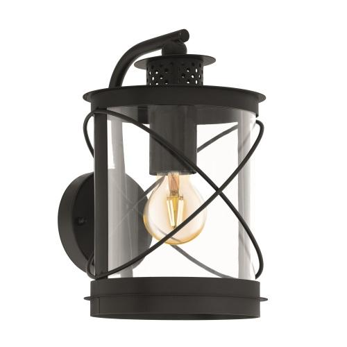 94843 Hilburn Outdoor Black Wall Light