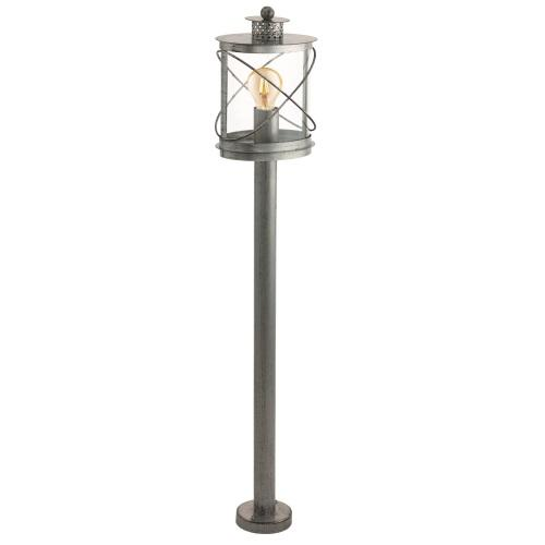 94868 Hilburn 1 Outdoor Antique Silver Post Light
