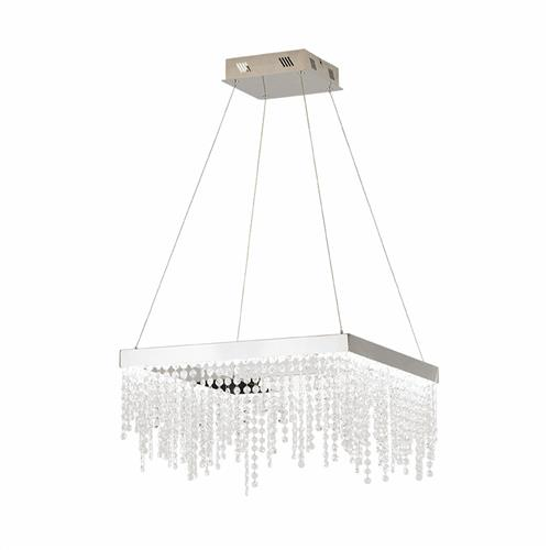 Antelao LED Medium Square Crystal Ceiling Pendant 39282