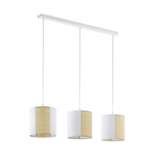 Arnhem White & Brown Three Light pendant 43402