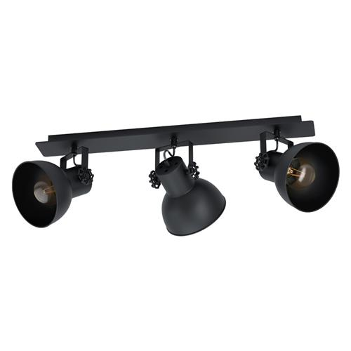 Barnstaple 1 Triple Ceiling Spot light Black 43432