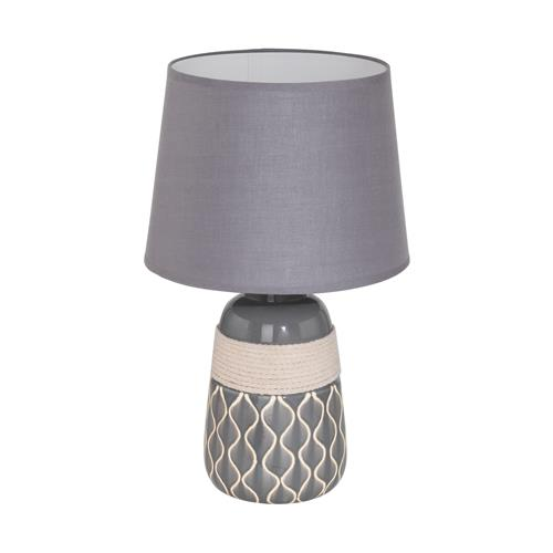 Bellariva 2 Grey And Beige Table Lamp with Grey Shade 97776