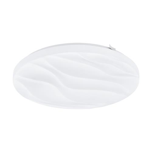 Benariba LED Small Round White Wave Flush Ceiling Fitting 99343