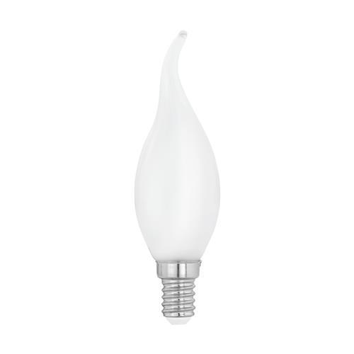 Bent Tip SES 4W 4000K LED Opal Candle Lamp 470 Lumens 12565