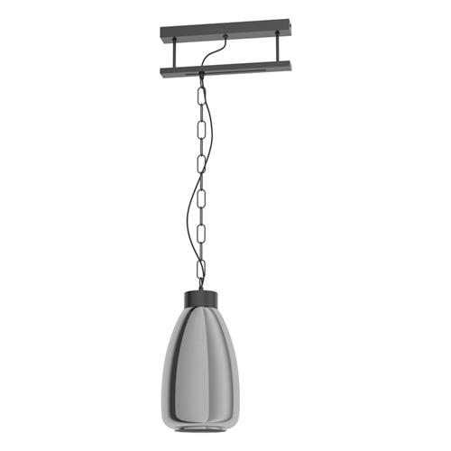 Brickfield Single Ceiling Pendant Black & Steel 43394