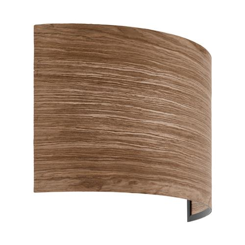 Cannafesca Steel Black/Wood Brown Wall light 98549