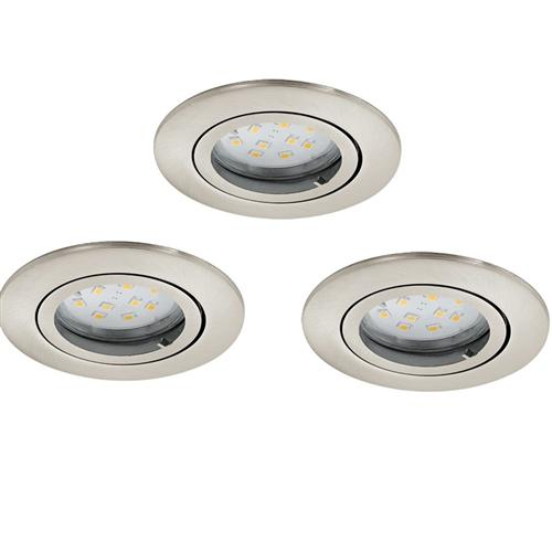 Tedo Recessed LED Downlights Pack Of Three 31689