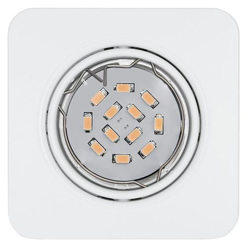 Pento Square White Recessed LED Spotlight 94262