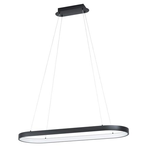 Codriales LED Black Oval Ceiling Pendant Fitting 99358