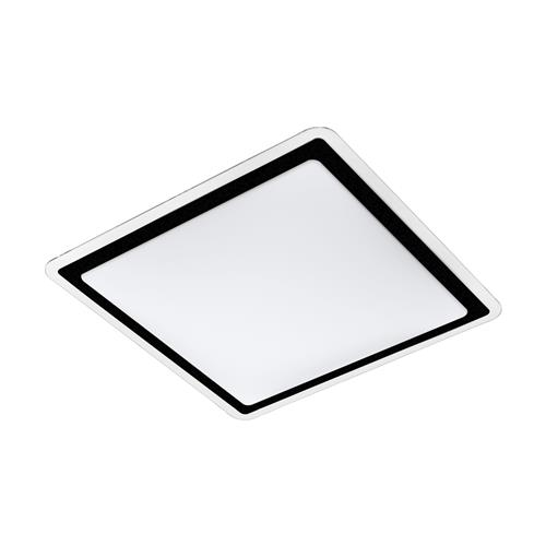 Competa 2 LED Black & White Square Fitting 99405